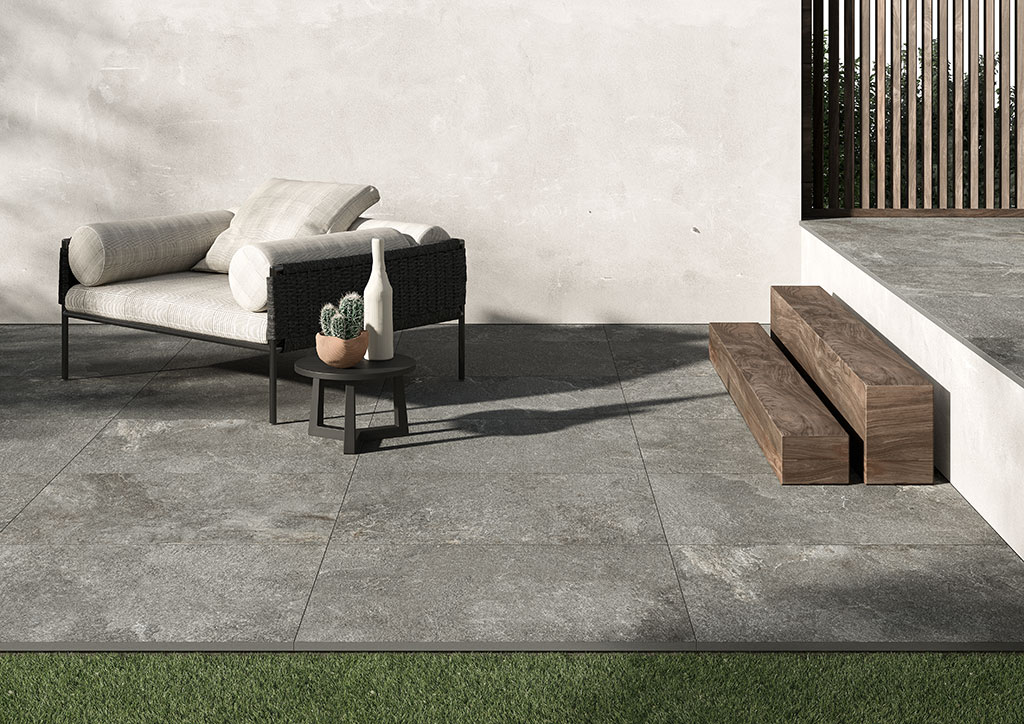 carrelage imitation pierre série stone graphite antidérapant 60x90